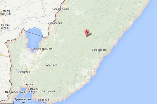 Карта Приморья.