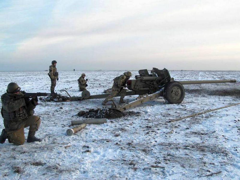 Украинская армия зимой в зоне АТО