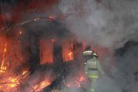 При пожаре в частном доме погибли сын и мать.