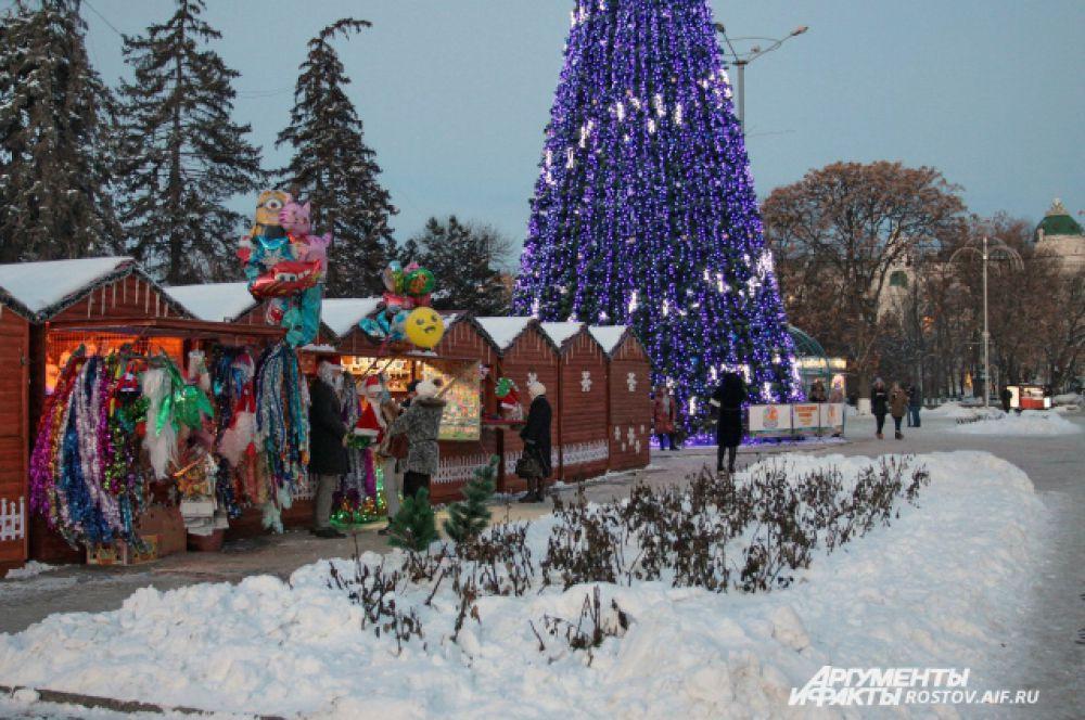 Уже открылись зимние базары.