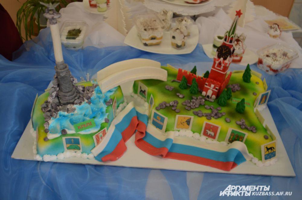 Этот торт занял первое место в номинации «Возвращение Крыма».
