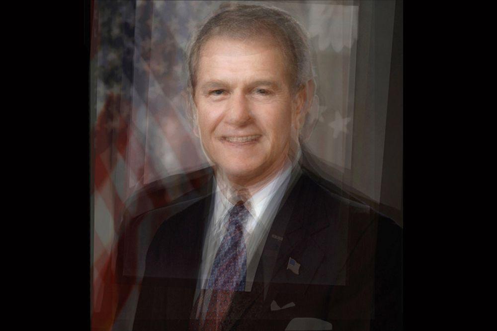 Президенты США: 1961–2008 годы. За этот период в Соединённых Штатах сменилось девять президентов. Пять из них были демократами, а четыре — республиканцами. В портрете почти не угадываются черты миролюбивого Джона Кеннеди, зато отчётливо проглядывают лица решительных Ричарда Никсона и Джорджа Буша—младшего.