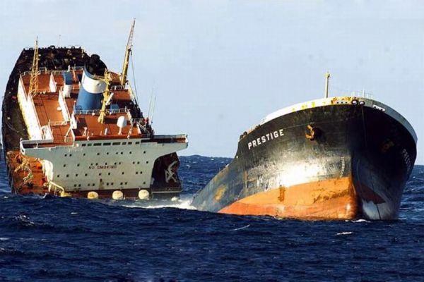 «Престиж» — однокорпусный танкер, плававший под багамским флагом. Известен тем, что в результате его аварии произошла крупнейшая морская экологическая катастрофа у берегов Европы. Проходя Бискайский залив 13 ноября 2002, судно попало в сильный шторм возле берегов Галисии, в результате чего в корпусе образовалась трещина длиной 35 метров, после чего танкер начал давать утечку около 1000 тонн мазута в сутки. Испанские и португальские береговые власти отказали судну зайти в ближайшие к месту аварии порты. В итоге, его отбуксировали в открытое море.