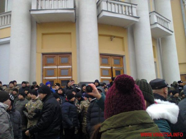 Протесты в Виннице