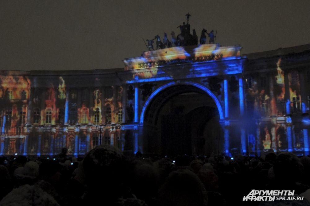 Зрителям показали пожар Зимнего дворца