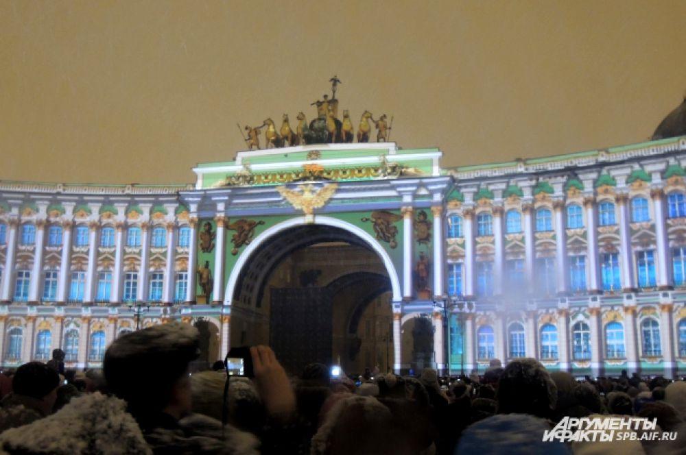 Здание Генштаба превратилось в Зимний дворец
