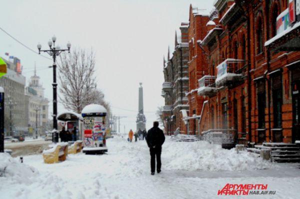 Хабаровск, как практически весь Дальний Восток, несколько дней назад так засыпало снегом, что жизнь в городе была парализована. Надо сказать, что обильные снегопады в этом году наблюдались в регионе уже с начала ноября.
