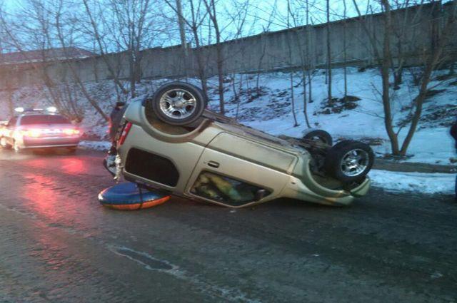 Авария в городе Владивостоке