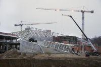 Стройплощадка Театра эстрады в Светлогорске, где должен пройти новый международный фестиваль.