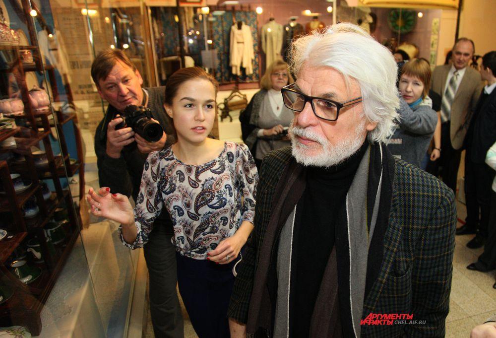 """Микеле Плачидо на открытие выставки """"Русский Рим"""""""