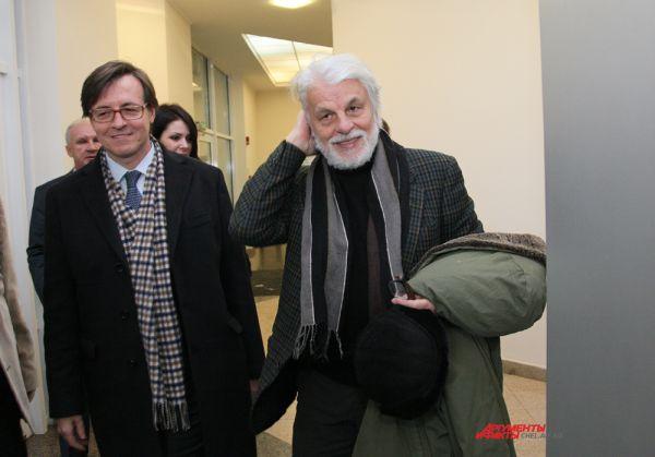 Микеле Плачидо на открытие выставки