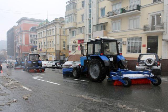 Уборка Владивостока после циклона