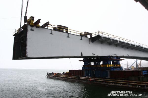 Непосредственно процесс подъёма и монтажа начали в 18 часов 8 декабря.