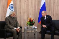 Премьер-министр Индии Нарендра Моди и президент РФ Владимир Путин. Июль 2014 г.