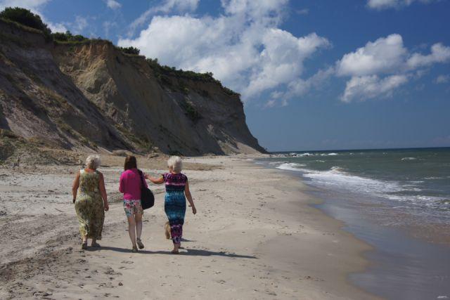 Широкие пляжи - редкость для побережья Балтики.