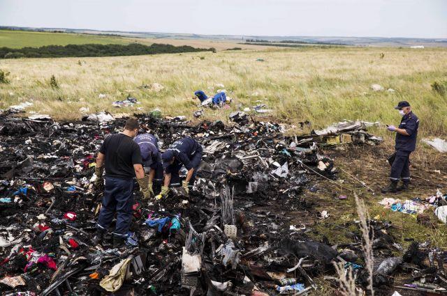 На месте авиакатастрофы Боинга