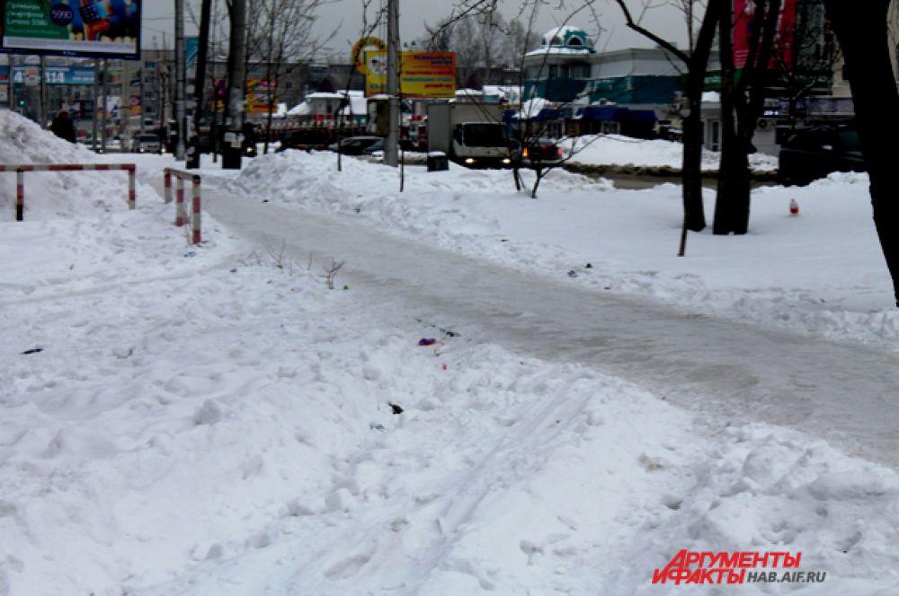 Кусочек тротуара на улице Суворова