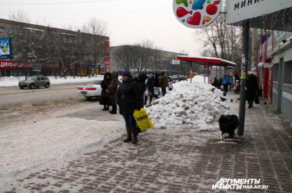 Автобусная остановка в районе трогового центра ЭВР