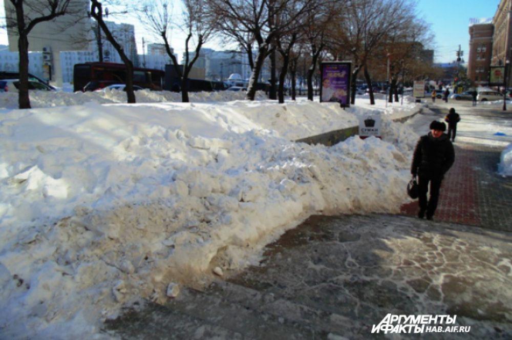 «Доступная среда» - лучшее место для сваливания снега