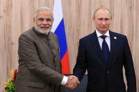 Владимир Путин и премьер-министр Индии Нарендра Моди.