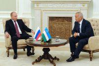 Владимир Путин и президент Узбекистана Ислам Каримов.