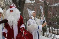 Посох у Деда Мороза - тоже волшебный.