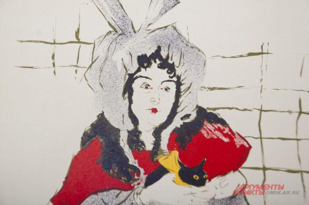 В Омске открылась выставка афиш и портретов Анри Тулуз-Лотрека.