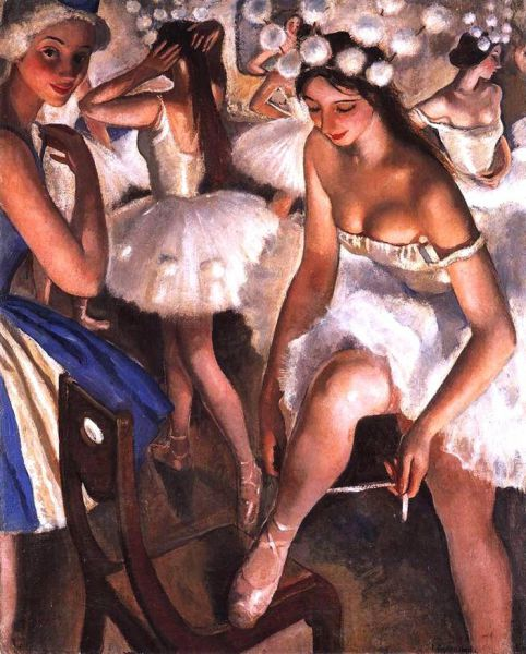 Зинаида, вместе с дочерью посещают Мариинский театр, бывают и за кулисами. В театре художница постоянно рисовала. Творческое общение с балеринами на протяжении трёх лет отразилось в изумительной серии балетных портретов и композиций.