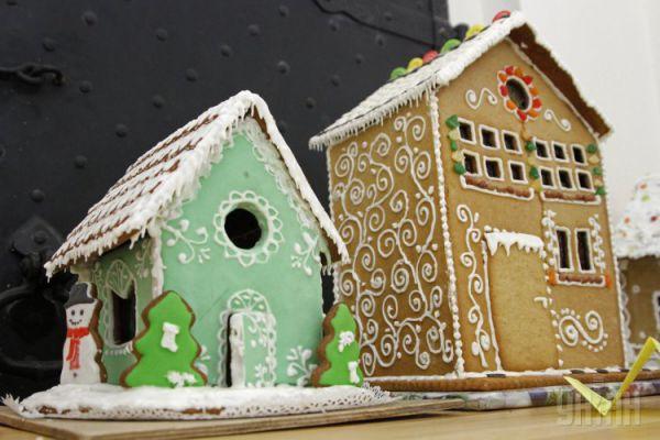 Пряничные домики на конкурсе в Киеве
