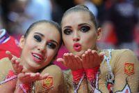 Российские гимнастки Алина Макаренко и Каролина Севастьянова.