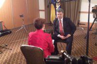 Порошенко во время интервью американскому телеканалу
