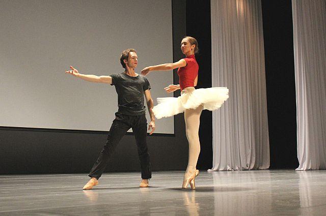 Репетиция балета-феерии «Щелкунчик».