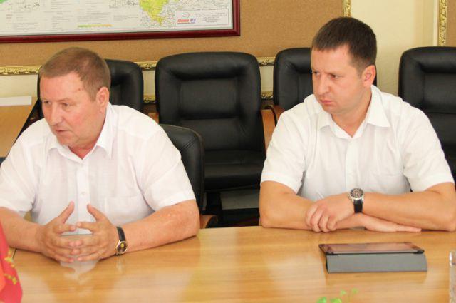Экс-глава Брянского района Александр Емельянов и председатель райсовета Брянского районв Александр Сысоев.