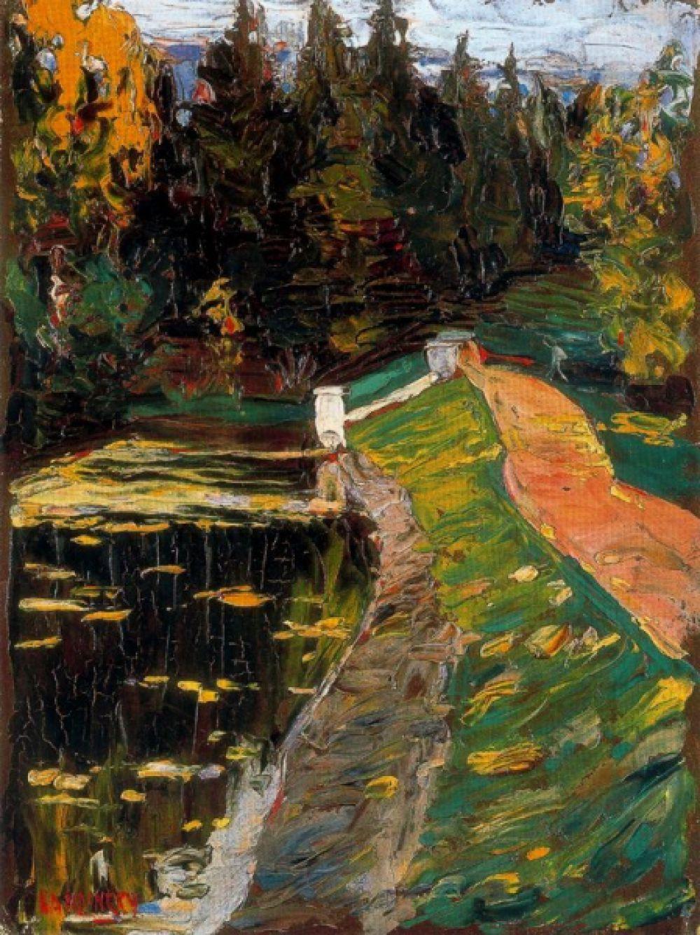 В 29 лет Кандинский оказался на выставке импрессионистов в Москве и под впечатлением от «Стога сена» Моне решил стать художником. Параллельно с этим он устроился на работу художественным директором типографии «Товарищества И. Н. Кушнерёва и К°» в Москве.