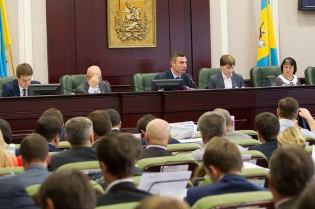 В зале заседаний Киевсовета