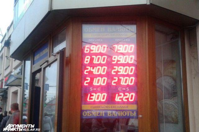 Курс евро в обменниках Калининграда может меняться по несколько раз за час.