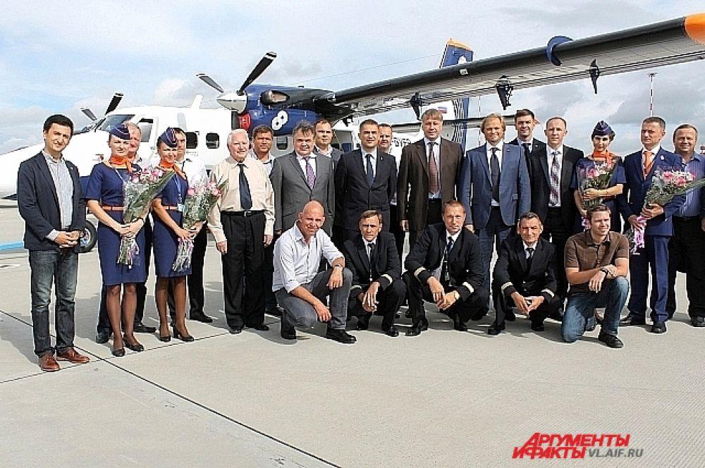 Снимок на память о новом самолёте в Приморье.