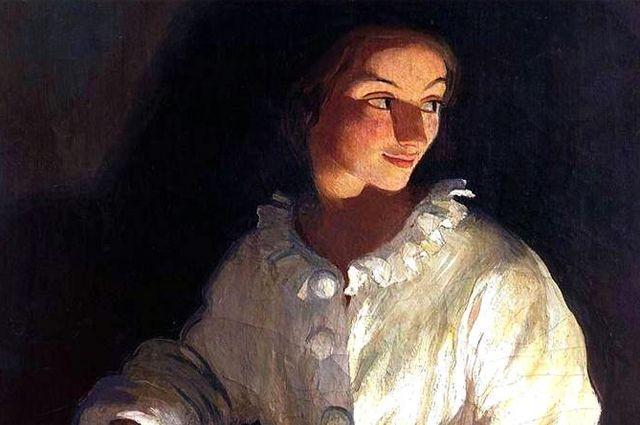 Зинаида Серебрякова. Автопортрет в костюме Пьеро (1911)