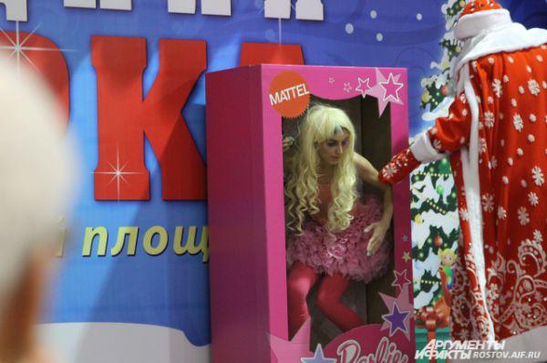 Номер с куклой Барби жюри не оценило.