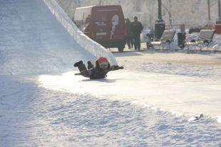 В Омске выберут лучшую снежную горку