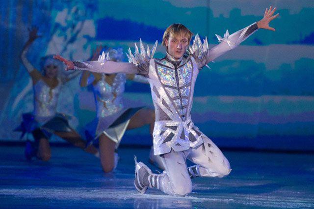 Евгений Плющенко на закрытом премьерном показе шоу «Снежный король».
