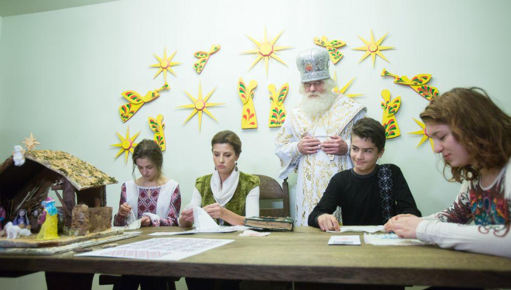 Марина Порошенко в резиденции Святого Николая