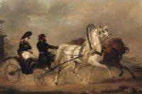Император Александр Первый в колеснице. Александр Зауервейд.
