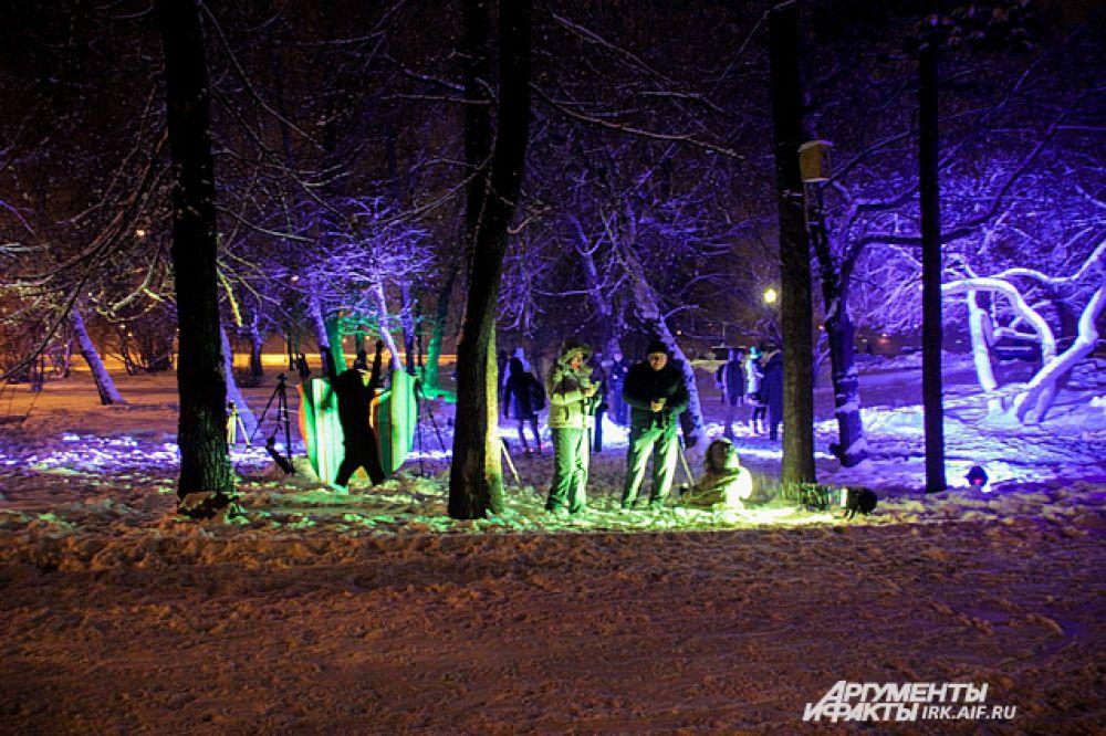 Световые конструкции установили на бульваре Гагарина.