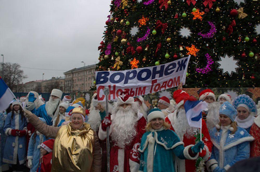 На параде встречались не только традиционные Морозы и Снегурочки.