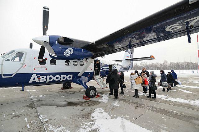 Идёт посадка не первый рейс самолёта DHC-6.