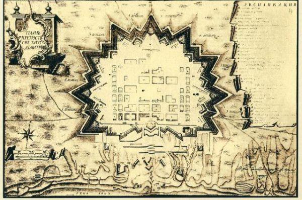 План крепости Димитрия Ростовского, сохранившийся в архивах до наших дней.