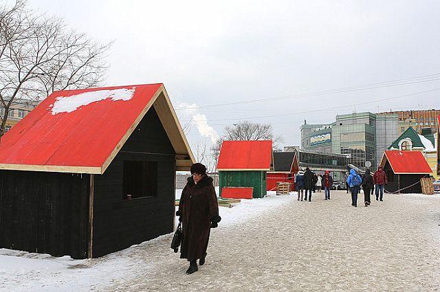 «Скандинавская деревня» на улице Фокина.