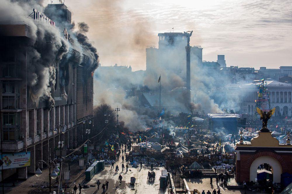Акции протеста в Киеве.