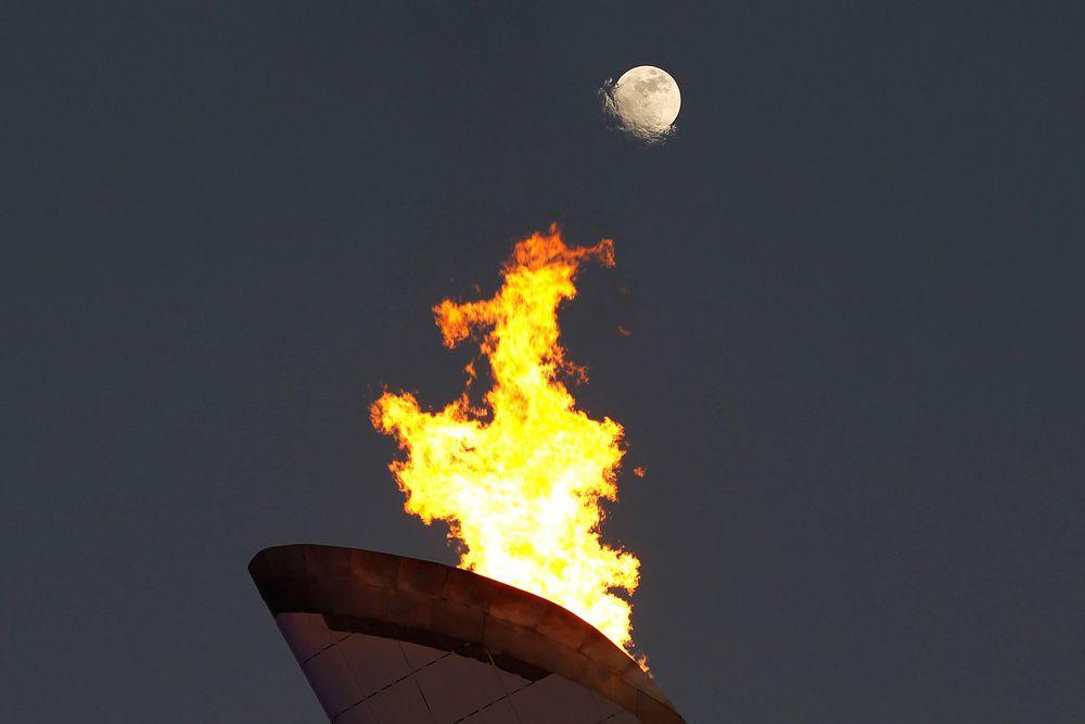 Главный Олимпийский огонь в Сочи.